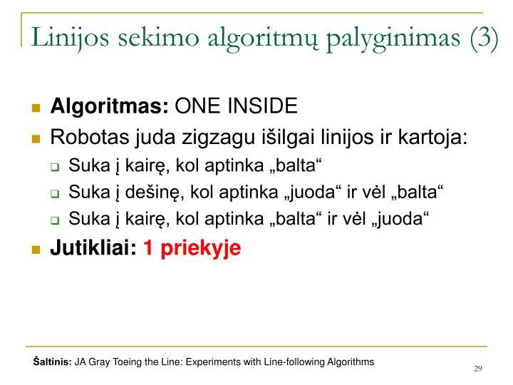 Linijos sekimo algoritmų palyginimas (3)
