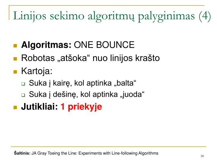 Linijos sekimo algoritmų palyginimas (4)