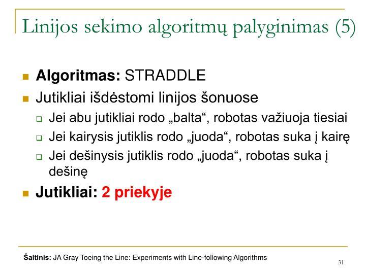 Linijos sekimo algoritmų palyginimas (5)