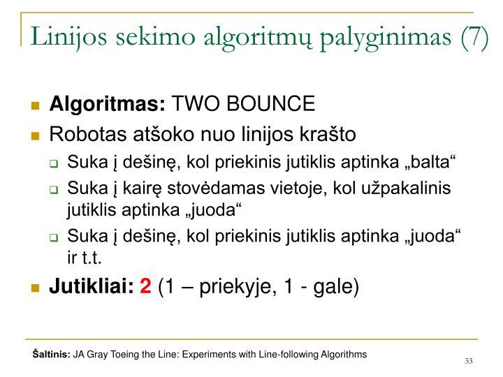 Linijos sekimo algoritmų palyginimas (7)