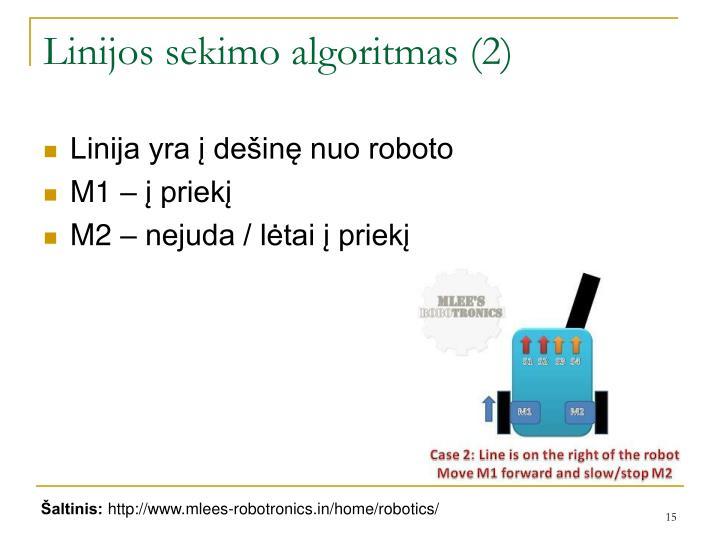 Linijos sekimo algoritmas (2)