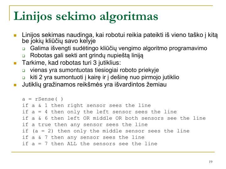 Linijos sekimo algoritmas