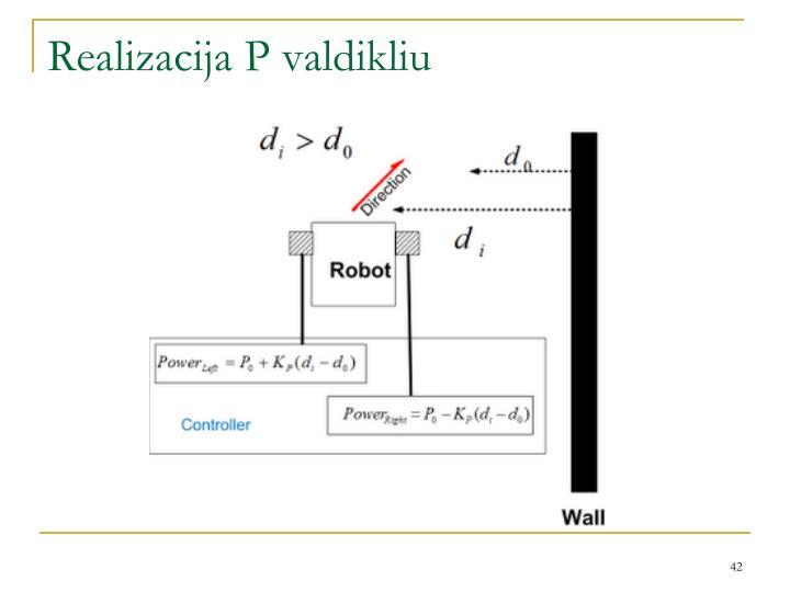 Realizacija P valdikliu