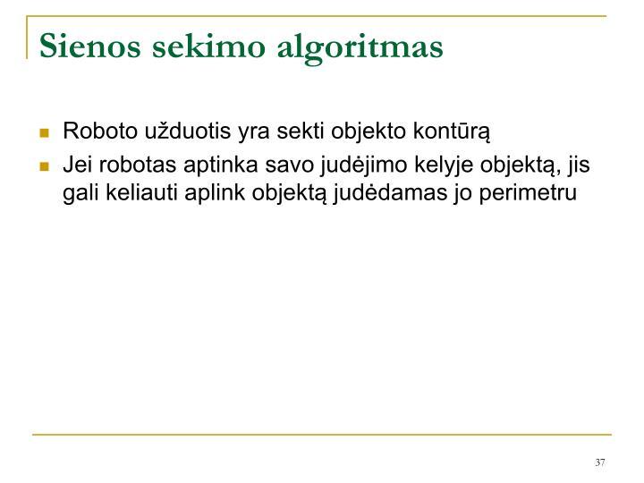 Sienos sekimo algoritmas