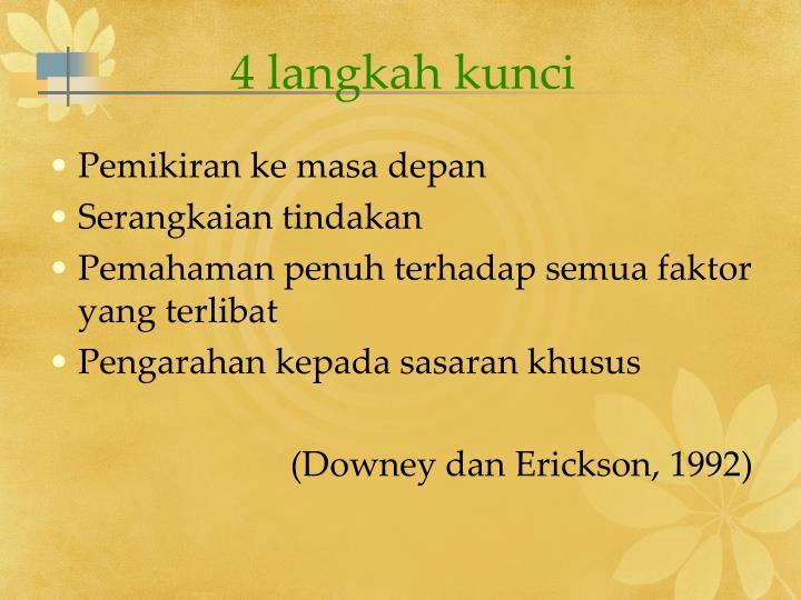 4 langkah kunci