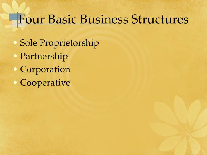 Four Basic Business Structures