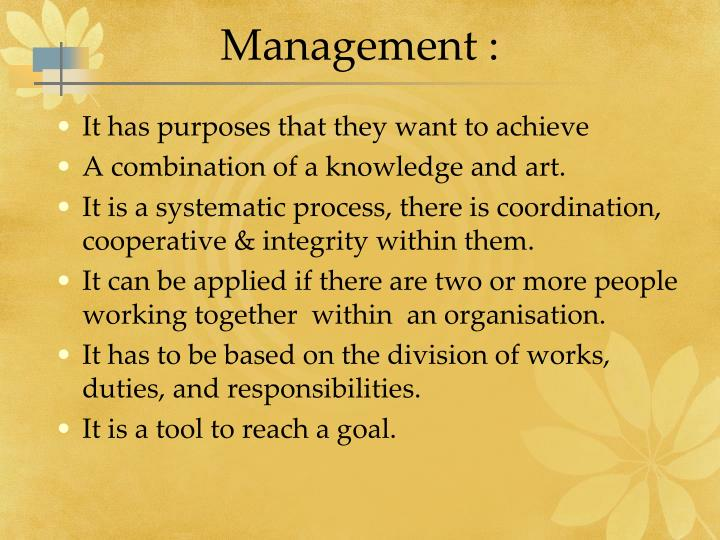 Management :
