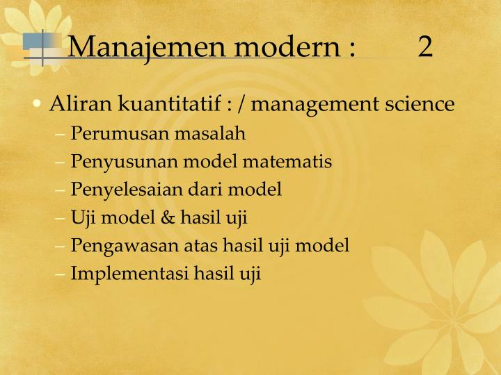 Manajemen modern :2