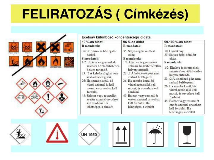 FELIRATOZÁS ( Címkézés)