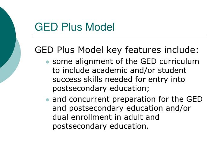 GED Plus Model