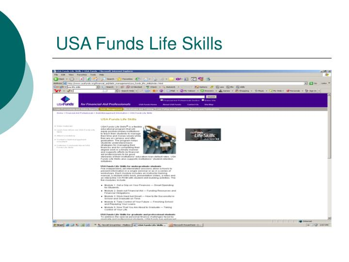 USA Funds Life Skills