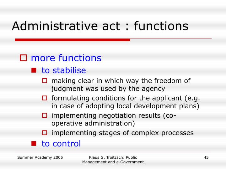Administrative act