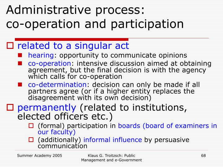 Administrative process: