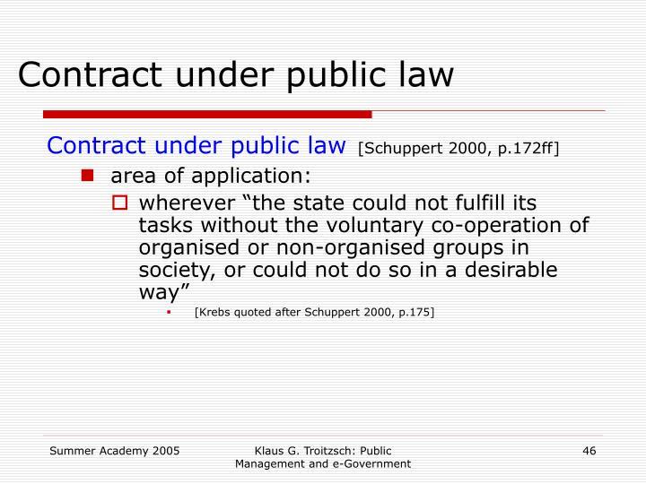 Contract under public law