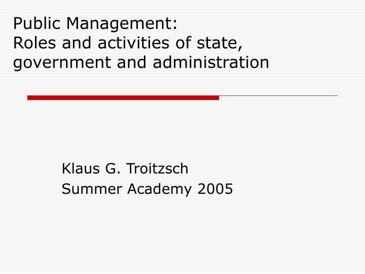 Public Management: