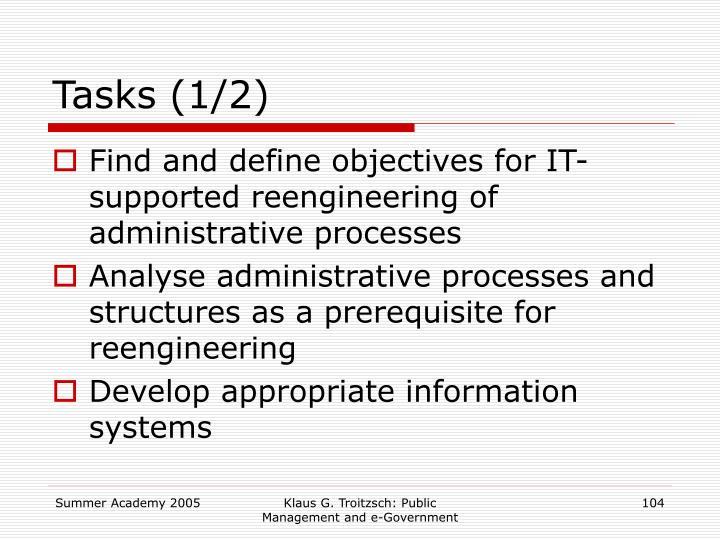Tasks (1/2)
