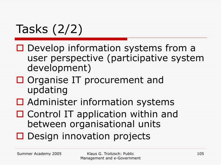 Tasks (2/2)