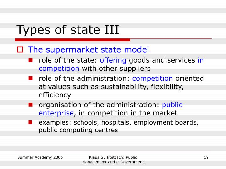 Types of state III