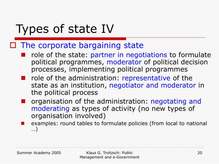 Types of state IV
