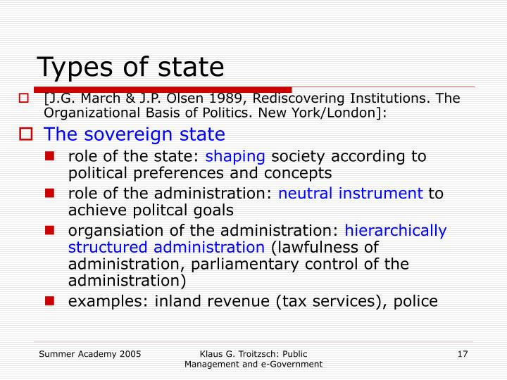 Types of state
