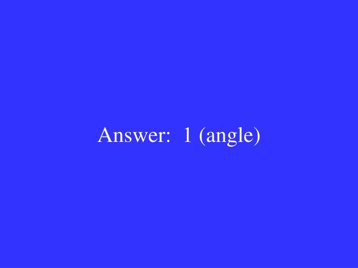 Answer:  1 (angle)