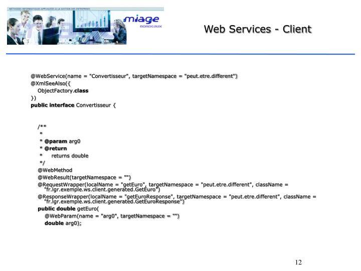 Web Services - Client