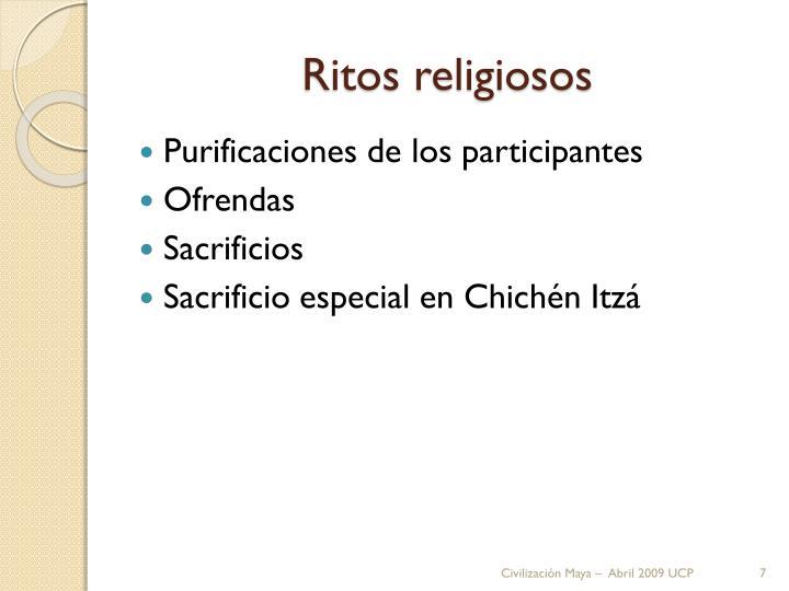 Ritos religiosos