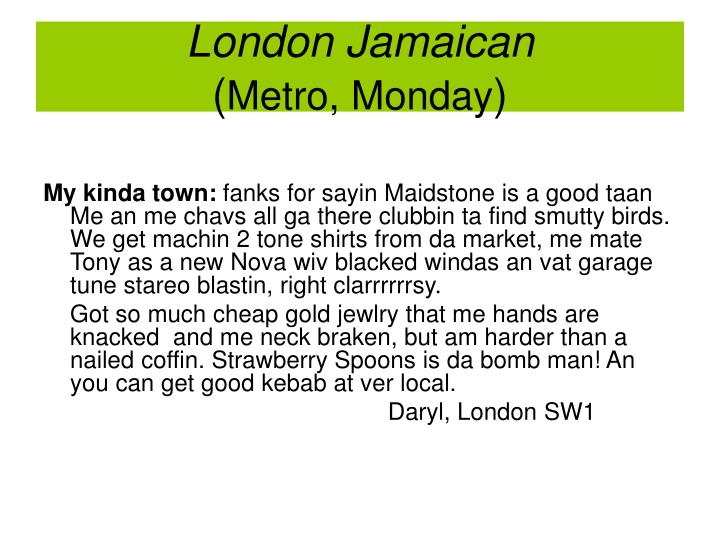 London Jamaican
