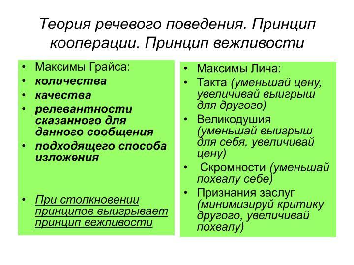 Максимы Грайса: