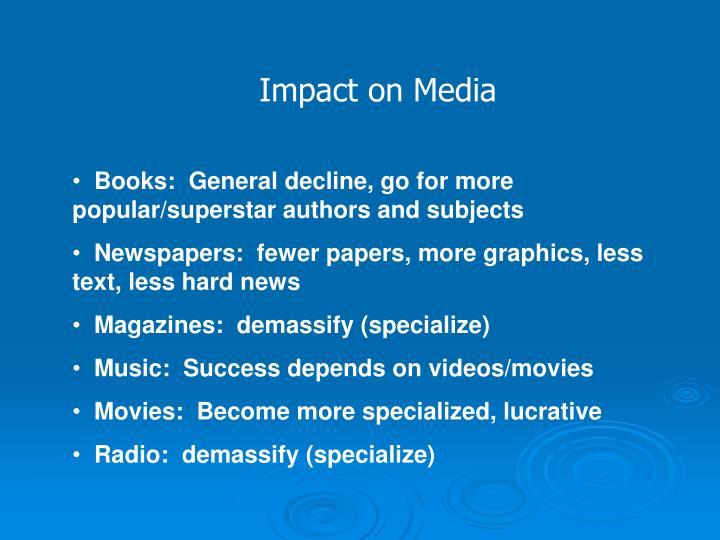 Impact on Media