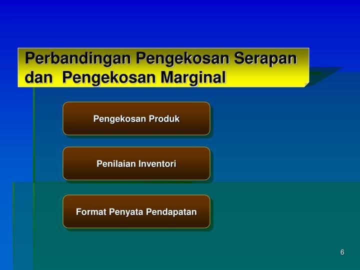 Perbandingan Pengekosan Serapan dan  Pengekosan Marginal