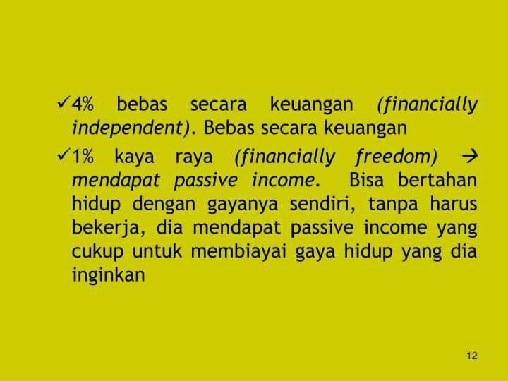 4% bebas secara keuangan