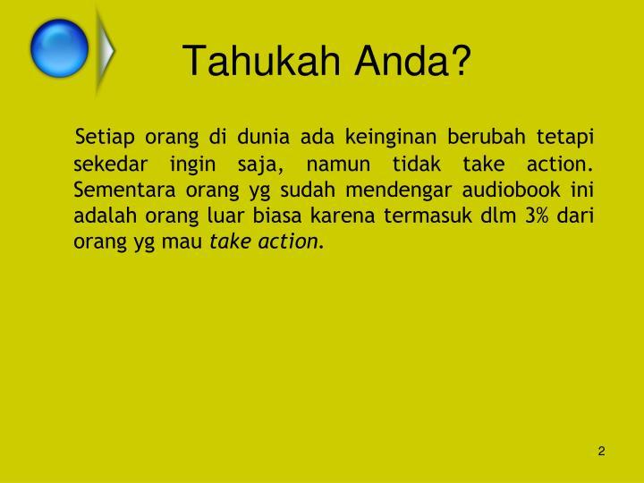 Tahukah Anda?