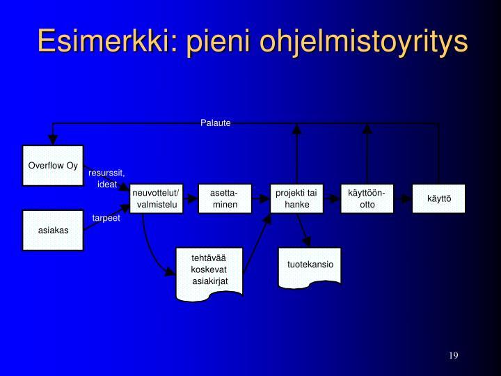 Esimerkki: pieni ohjelmistoyritys