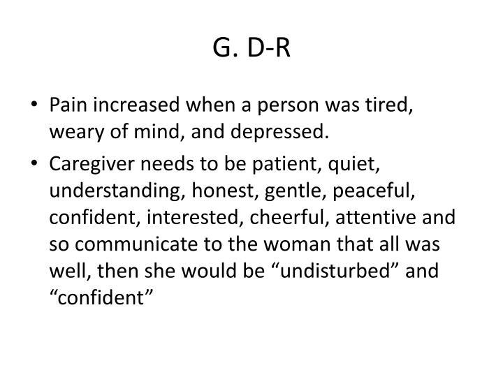 G. D-R