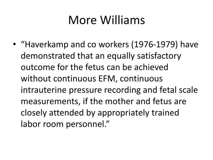 More Williams