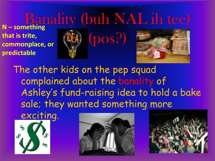 Banality (