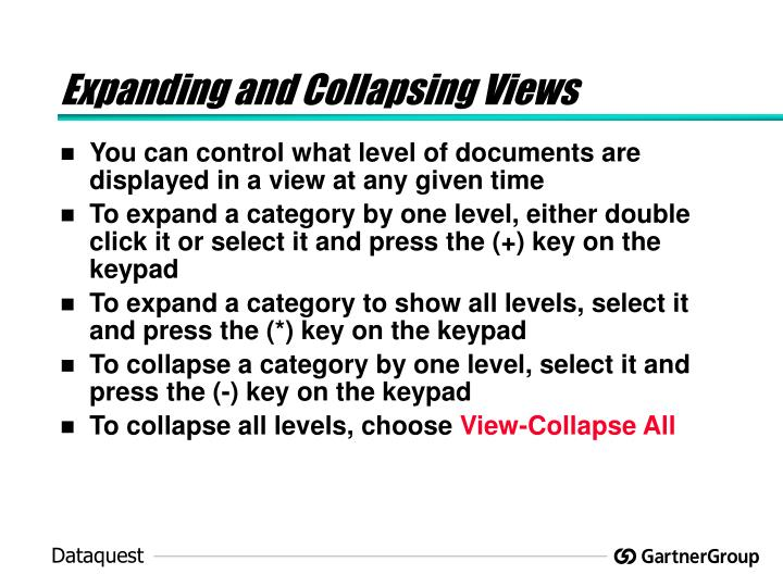 Expanding and Collapsing Views