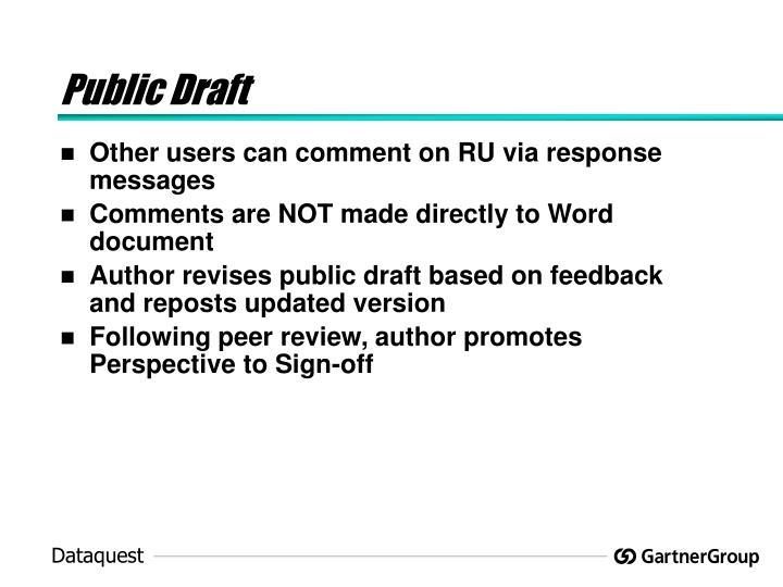 Public Draft