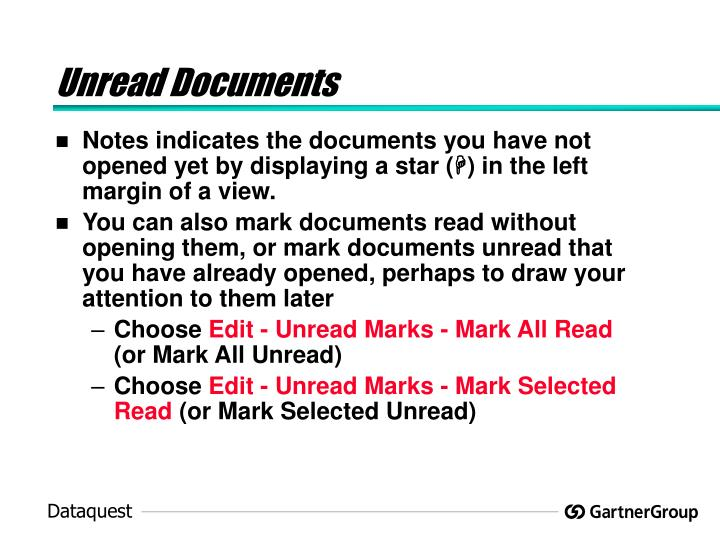Unread Documents