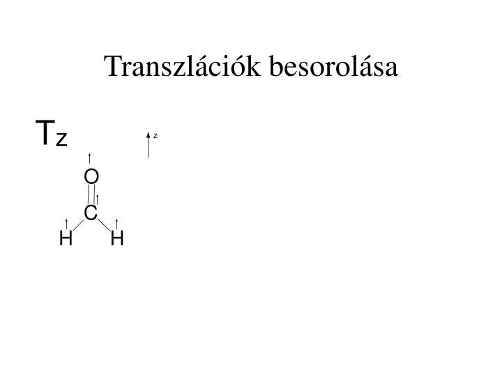 Transzlációk besorolása