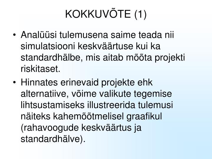 KOKKUVÕTE (1)