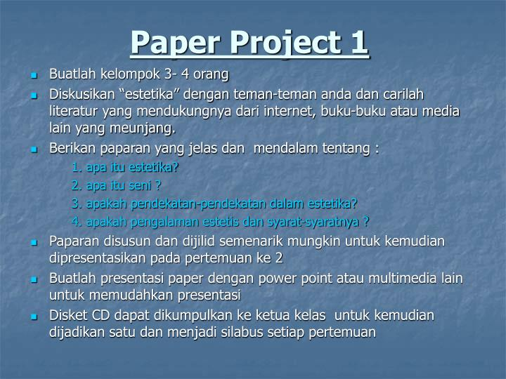 Paper Project 1