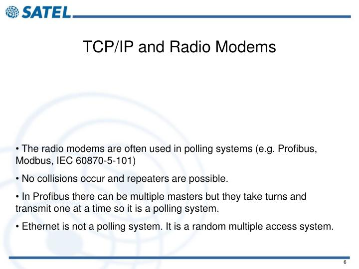 TCP/IP and Radio Modems