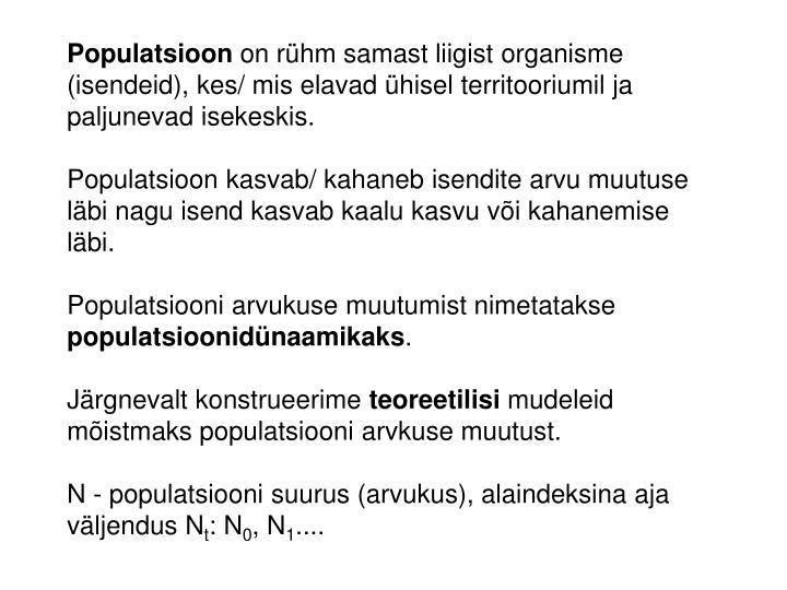 Populatsioon