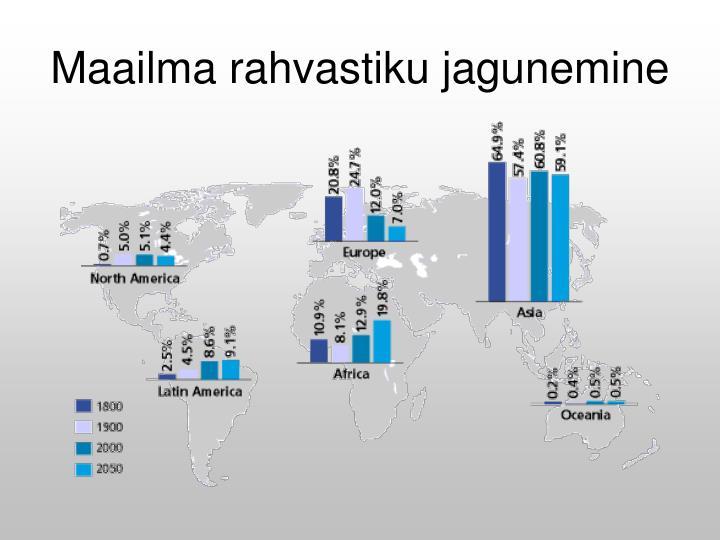 Maailma rahvastiku jagunemine