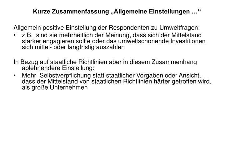 """Kurze Zusammenfassung """"Allgemeine Einstellungen …"""""""