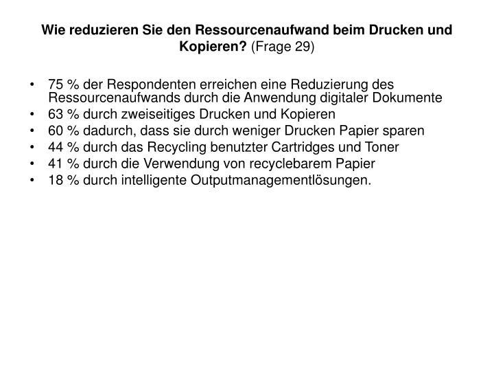 Wie reduzieren Sie den Ressourcenaufwand beim Drucken und Kopieren?