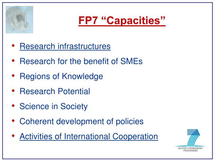 "FP7 ""Capacities"""