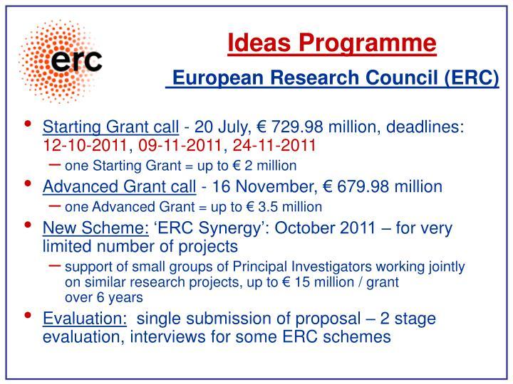 Ideas Programme
